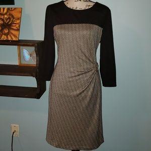 New Tahari Arthur S Levine Long Sleeve Wrap Dress